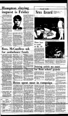 News Record from North Hills, Pennsylvania on December 11, 1974 · Page 1