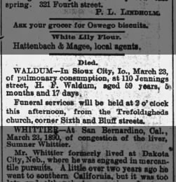 Sioux City Journal from Sioux City, Iowa on March 25, 1890 · 8