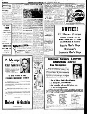 The Robesonian from ,  on May 22, 1946 · Page 8