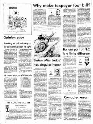 The Gastonia Gazette from Gastonia, North Carolina on February 6, 1974 · Page 2