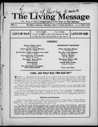 Sample The Living Message front page