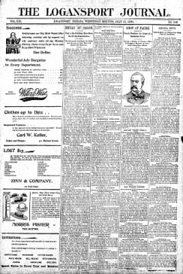 Logansport Pharos-Tribune from Logansport, Indiana on July 15, 1896 · Page 1
