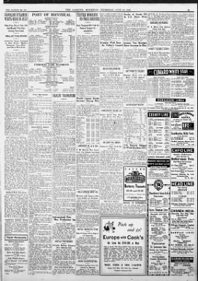 The Gazette from Montreal, Quebec, Quebec, Canada on June 16, 1938 · 21