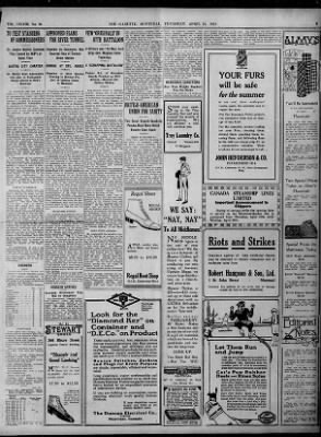 The Gazette from Montreal, Quebec, Canada on April 24, 1919 · 5