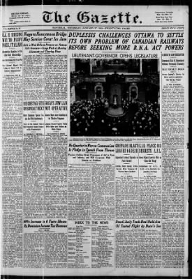 The Gazette from Montreal, Quebec, Quebec, Canada on January 27, 1938 · 1