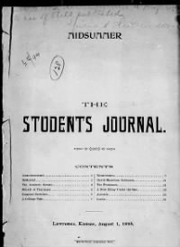 Sample The Student's Journal front page