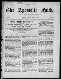 Sample The Apostolic Faith front page