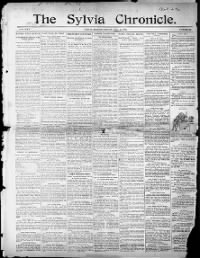 Sample Sylvia Chronicle front page