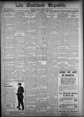 The Goodland Republic and Goodland News from Goodland, Kansas on March 1, 1907 · 1