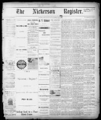 Sample The Nickerson Register front page