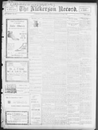 Sample The Nickerson Record front page