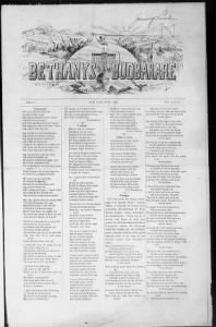 Sample Bethany's Budbarare front page
