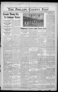 Sample Phillips County Post front page