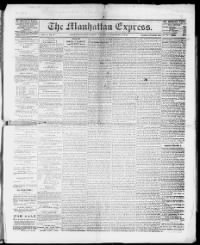 Sample Manhattan Express front page