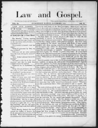 Sample Law and Gospel front page