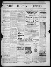 Sample Horton Gazette front page