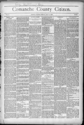 Comanche County Citizen from Avilla, Kansas on May 21, 1886 · 1