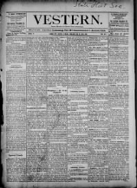 Sample Vestern front page