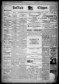 Sample Buffalo Clipper front page