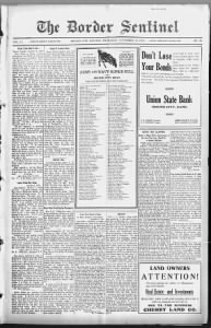 Sample Mound City Republic front page