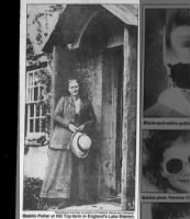 Photo of Beatrix Potter at Hill Top farm in England's Lake District