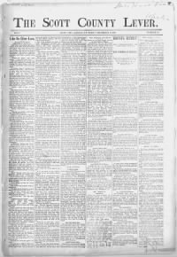 Sample The Scott County Lever front page