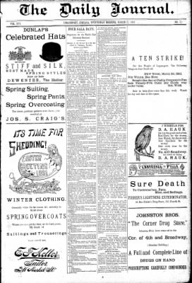 Logansport Pharos-Tribune from Logansport, Indiana on March 25, 1891 · Page 1