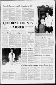 Sample The Osborne County Farmer front page