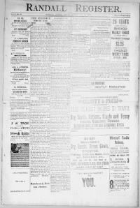 Sample Randall Register front page