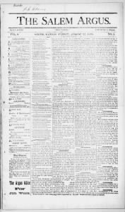 Sample The Salem Argus front page