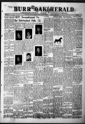 Burr Oak Herald from Burr Oak, Kansas on February 11, 1971 · 1