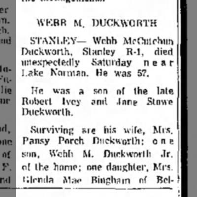Webb M. Duckworth -