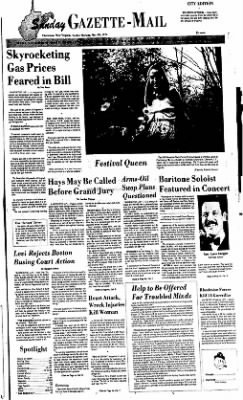 Sunday Gazette-Mail from Charleston, West Virginia on May 30, 1976 · Page 1