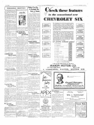 The Daily Courier from Connellsville, Pennsylvania on January 11, 1930 · Page 6