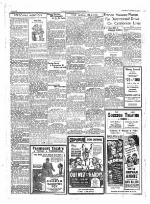 The Daily Courier from Connellsville, Pennsylvania on January 3, 1939 · Page 6