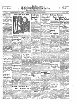 The Daily Courier from Connellsville, Pennsylvania on January 5, 1939 · Page 1