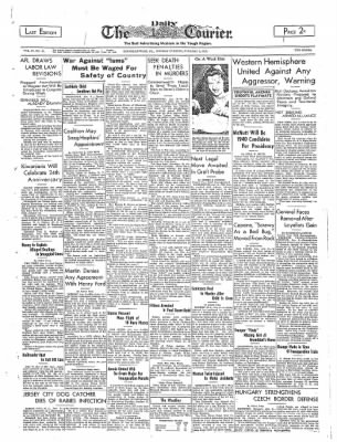 The Daily Courier from Connellsville, Pennsylvania on January 9, 1939 · Page 1