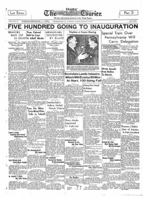 The Daily Courier from Connellsville, Pennsylvania on January 14, 1939 · Page 1
