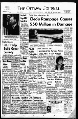 The Ottawa Journal from Ottawa,  on August 28, 1964 · Page 1