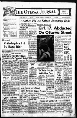 The Ottawa Journal from Ottawa,  on August 29, 1964 · Page 1