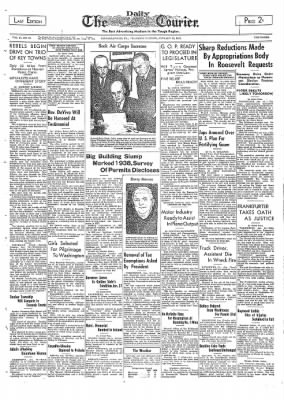 The Daily Courier from Connellsville, Pennsylvania on January 19, 1939 · Page 1