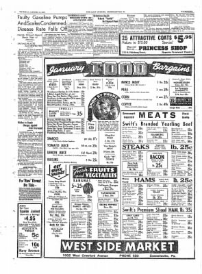 The Daily Courier from Connellsville, Pennsylvania on January 13, 1938 · Page 7