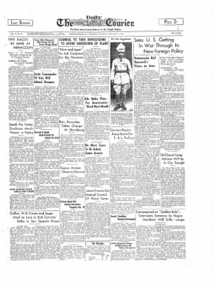 The Daily Courier from Connellsville, Pennsylvania on February 2, 1939 · Page 1