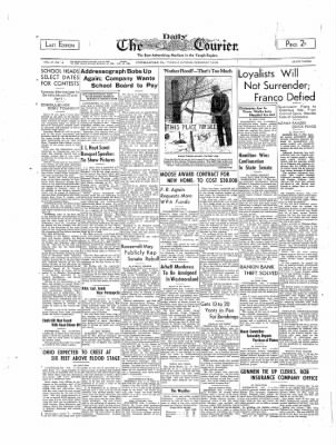 The Daily Courier from Connellsville, Pennsylvania on February 7, 1939 · Page 1