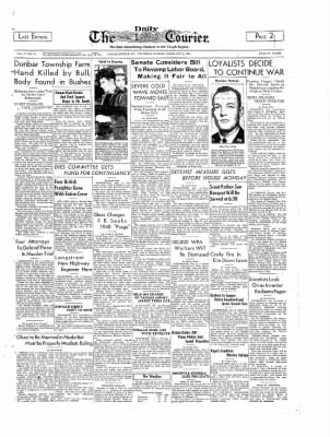 The Daily Courier from Connellsville, Pennsylvania on February 9, 1939 · Page 1