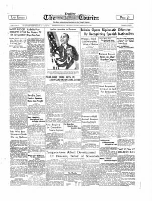 The Daily Courier from Connellsville, Pennsylvania on February 16, 1939 · Page 1