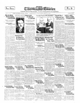 The Daily Courier from Connellsville, Pennsylvania on February 21, 1930 · Page 1