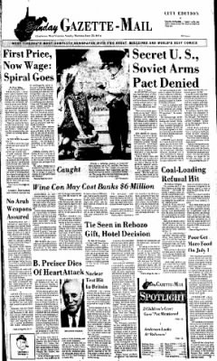 Sunday Gazette-Mail from Charleston, West Virginia on June 23, 1974 · Page 1