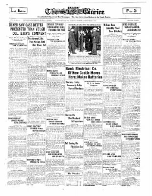 The Daily Courier from Connellsville, Pennsylvania on February 25, 1930 · Page 1