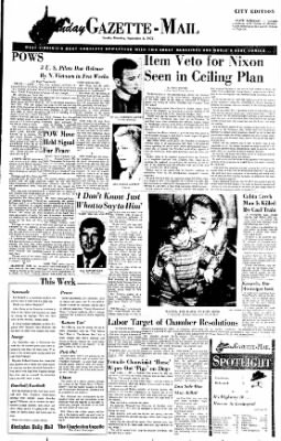 Sunday Gazette-Mail from Charleston, West Virginia on September 3, 1972 · Page 1
